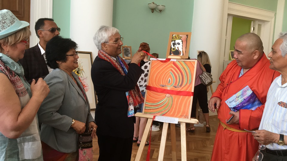 Sushma's art exhibition in Moscow