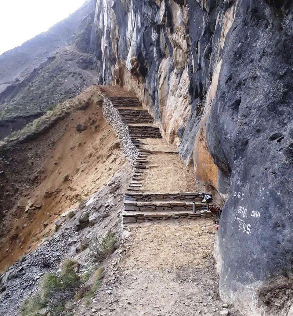 PM employment program: trekking route construction at Shuklaphanta