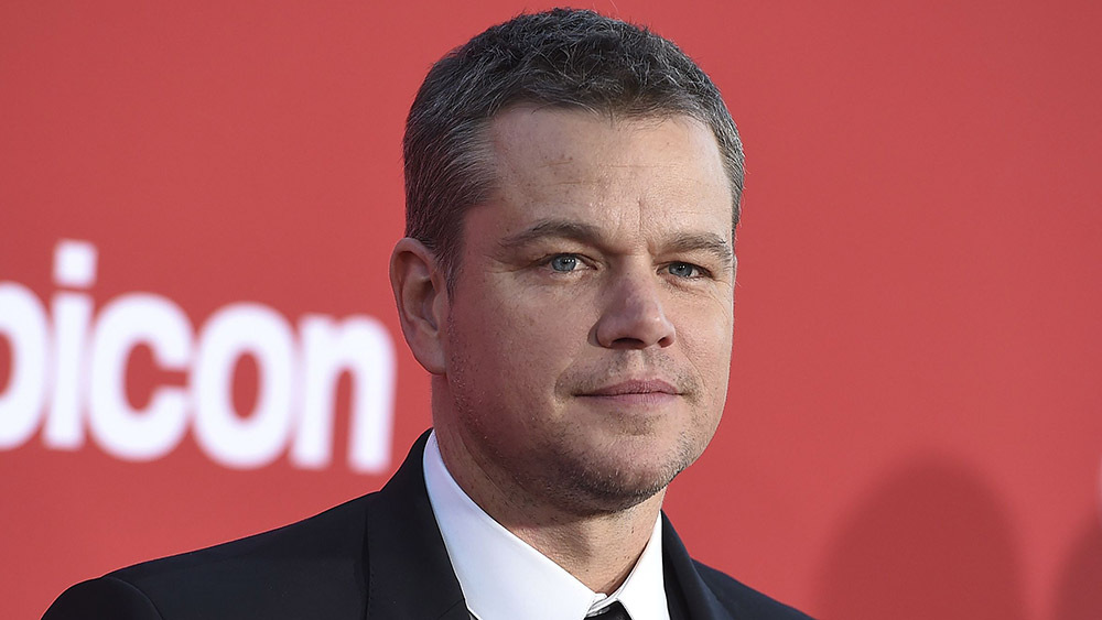 Matt Damon get daughters' names inked on arm