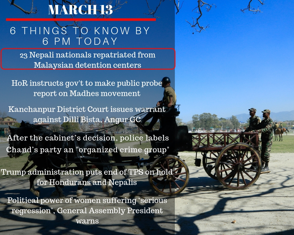 MARCH 13: 6 things to know by 6 PM today