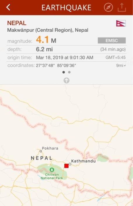 4.1-magnitude tremor felt in Kathmandu