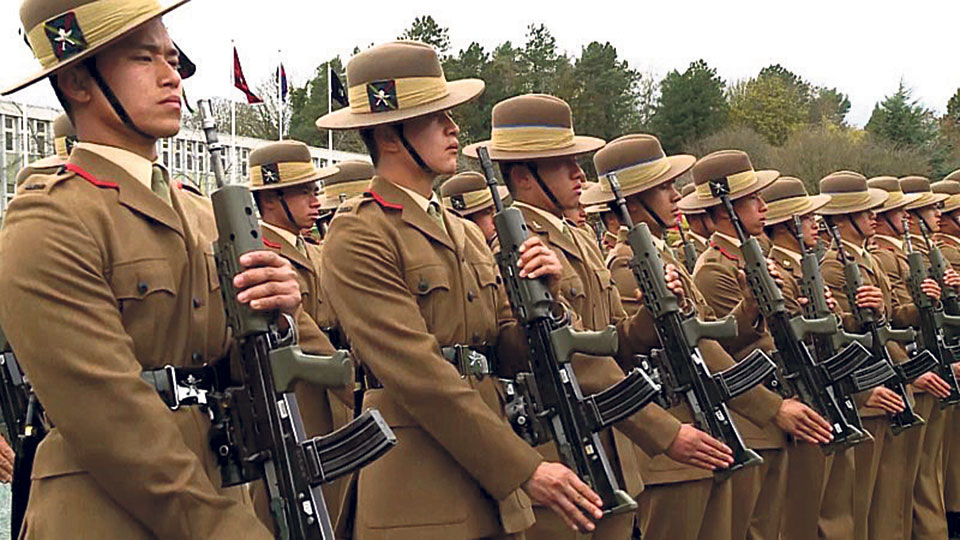 Gurkha ex-servicemen stage protest demanding pay parity