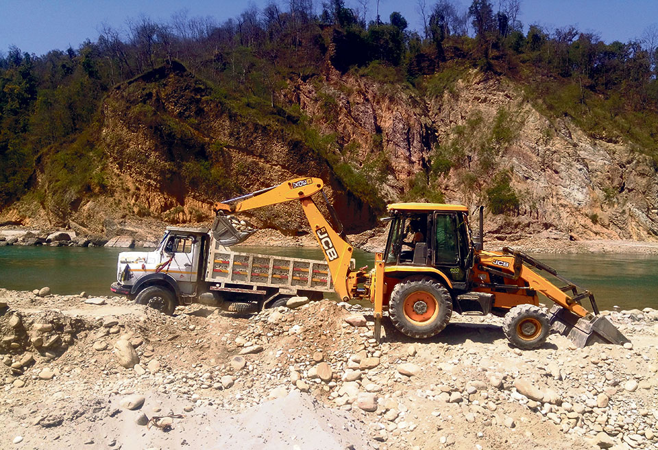 Province minister illegally extracting resources in Bheri