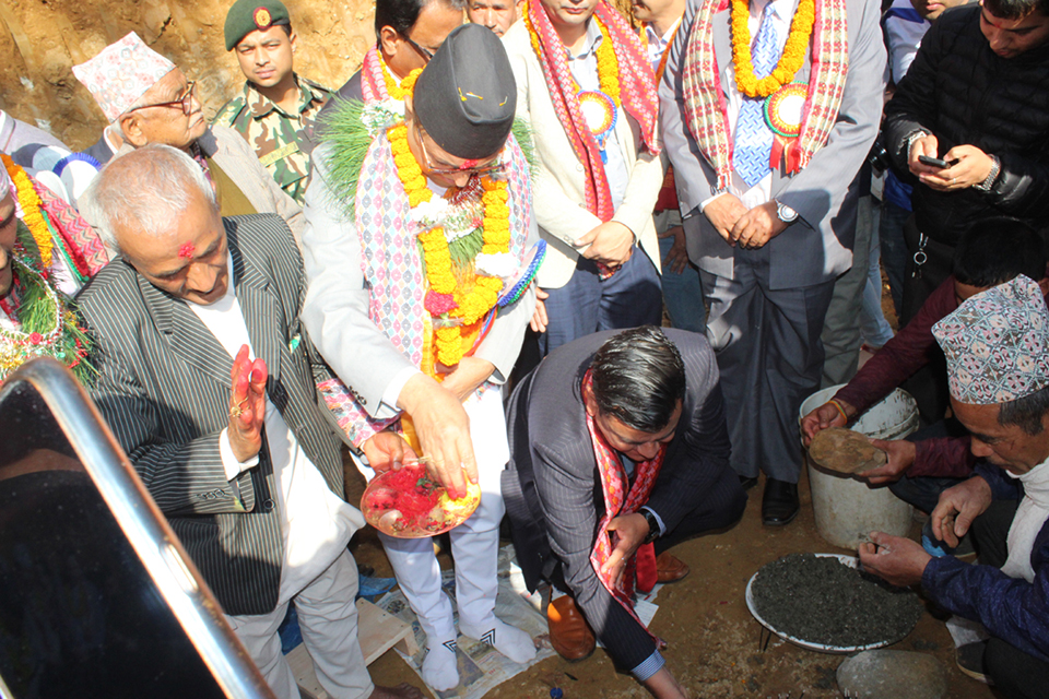 Foundation stone laid for the longest suspension bridge of Nepal