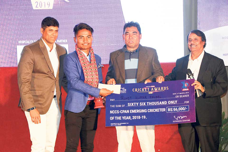 Lamichhane, Paudel, Sita, KC among winners of cricket awards