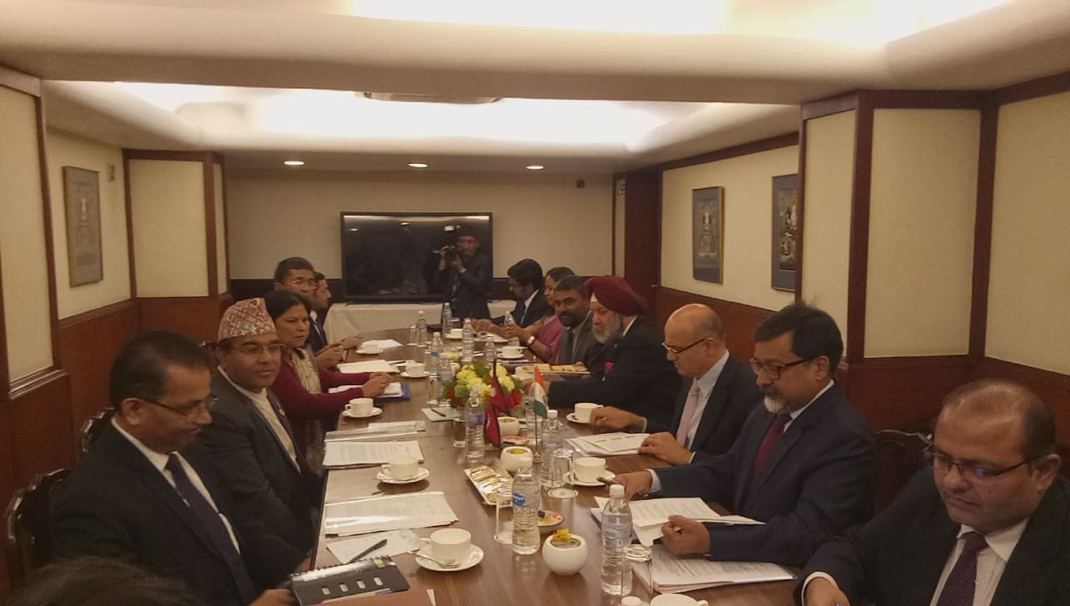 Senior officials from Nepal, India review status of bilateral projects