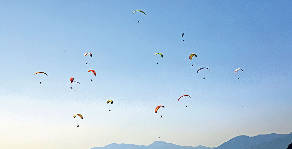 Local authority unaware of ongoing paragliding tournament in Pokhara