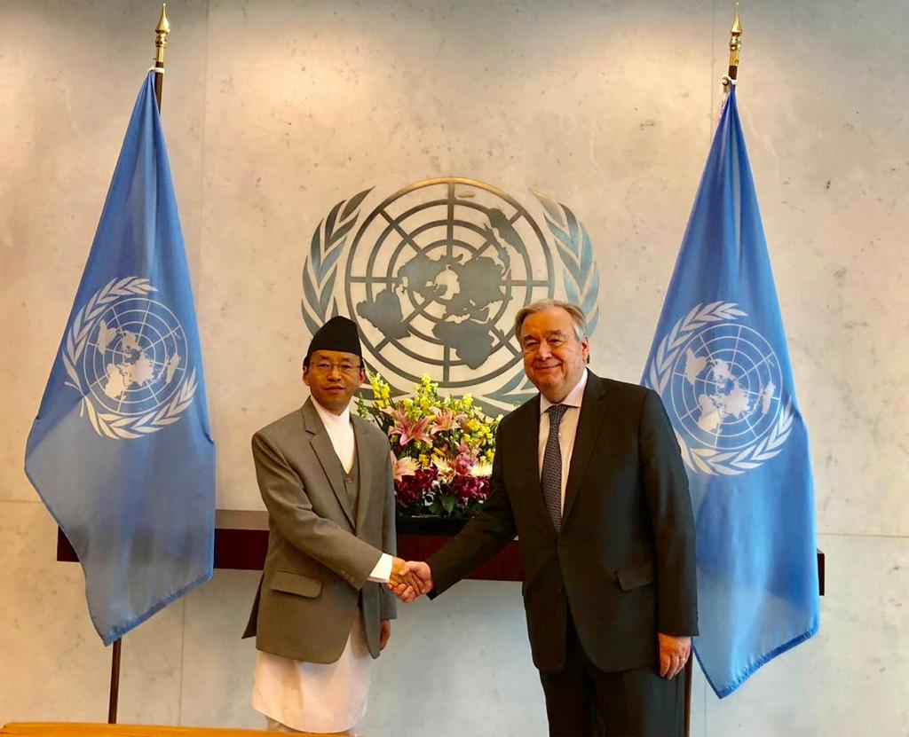 Nepal's Permanent Representative to UN presents credentials to UN Secretary General