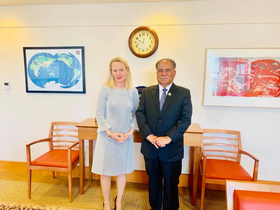 NCP co-chair Dahal meets top US official to 'mend fences'