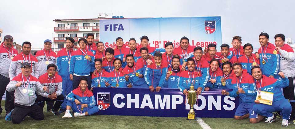 Ranipokhari crowned 'B' Division champions