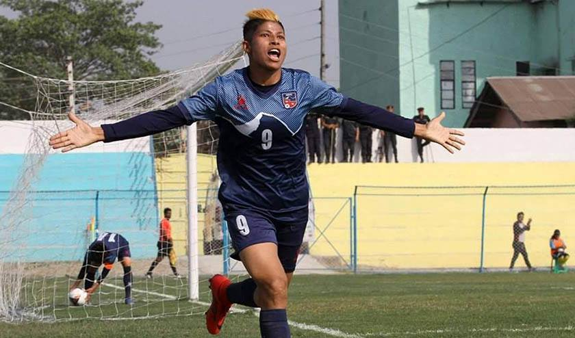 Nepal takes lead with three goals in first half