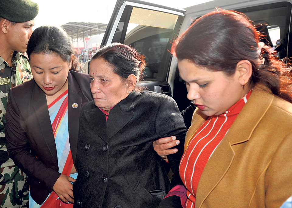 Dahal off to US for wife's treatment: Who will foot the bill?