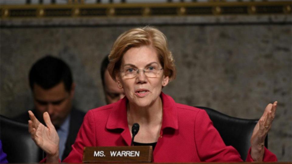Wall Street critic Warren vows to break up Amazon, Facebook, Google
