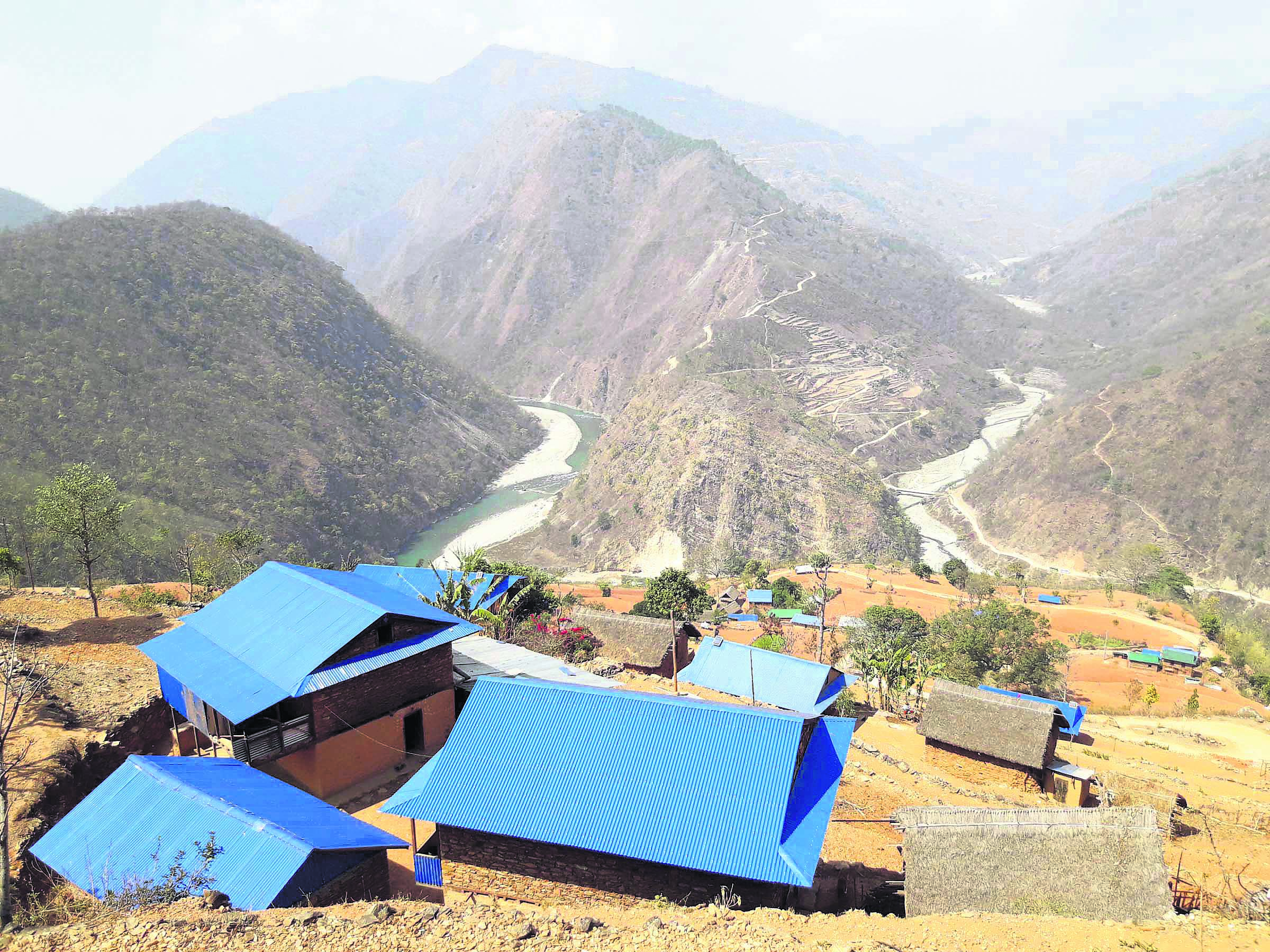 The changing face of a Majhi village