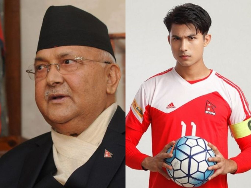 PM Oli at Big Movies to watch 'Captain'