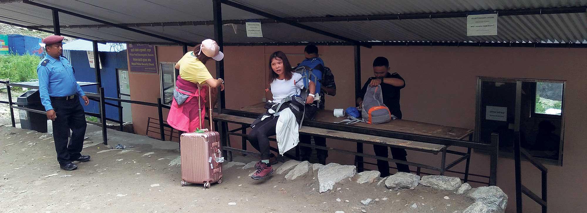 Tourist arrivals via Rasuwagadhi on the rise