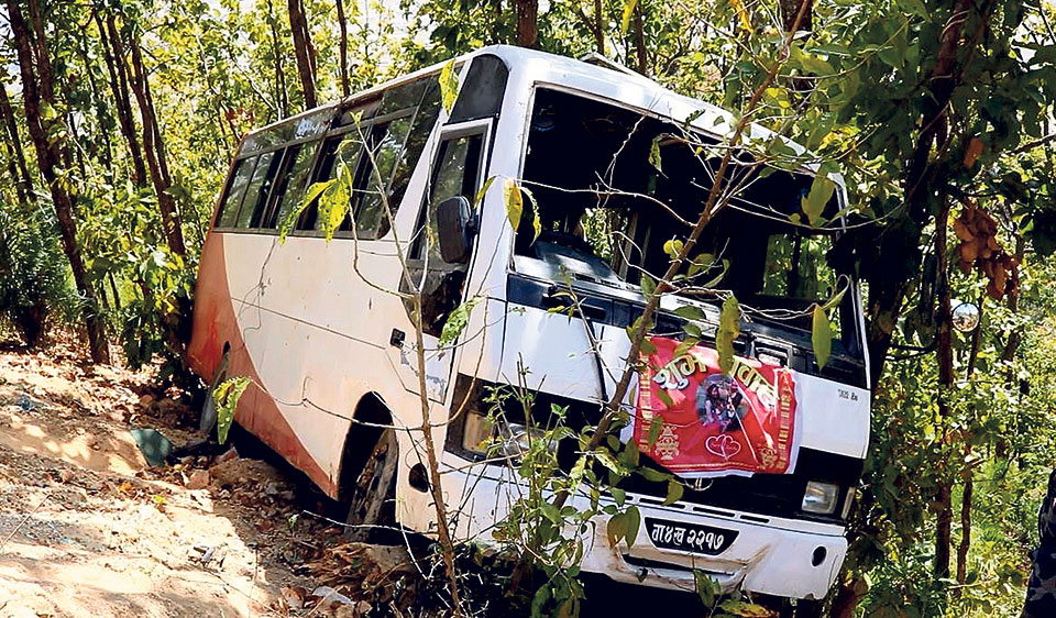Two killed, 22 injured in wedding bus accident