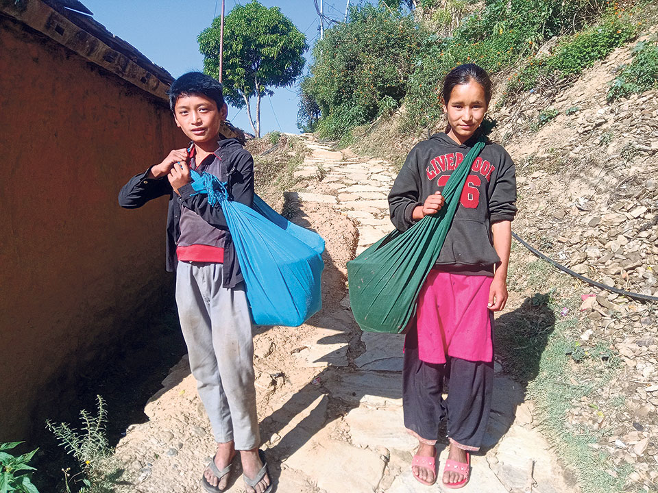Children skip classes to sell kafal