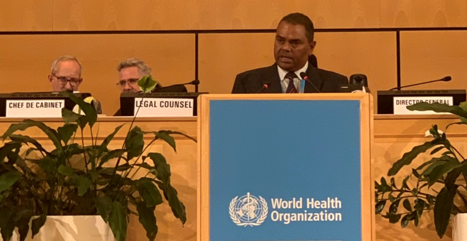 DPM Yadav delivers statement during 72nd World Health Assembly in Geneva