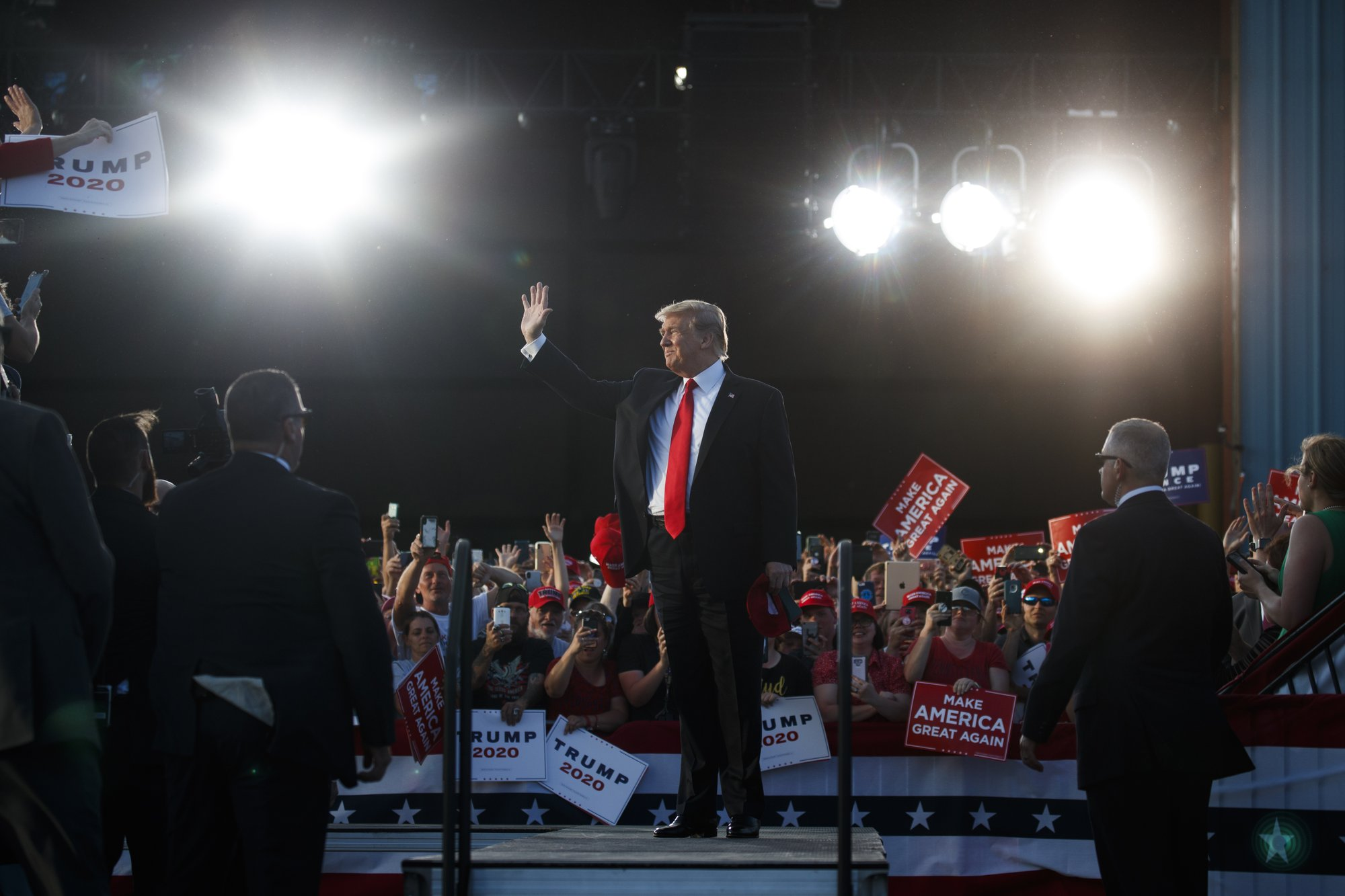 In Pennsylvania, Trump touts 2020 chances, swipes at Biden