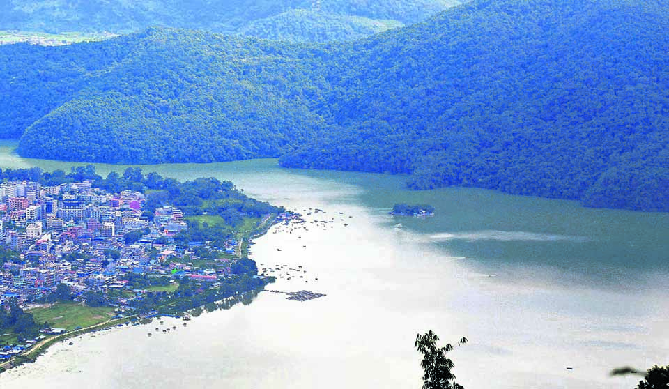 Fewa Lake conservation affected due to lack of coordination between local and province governments