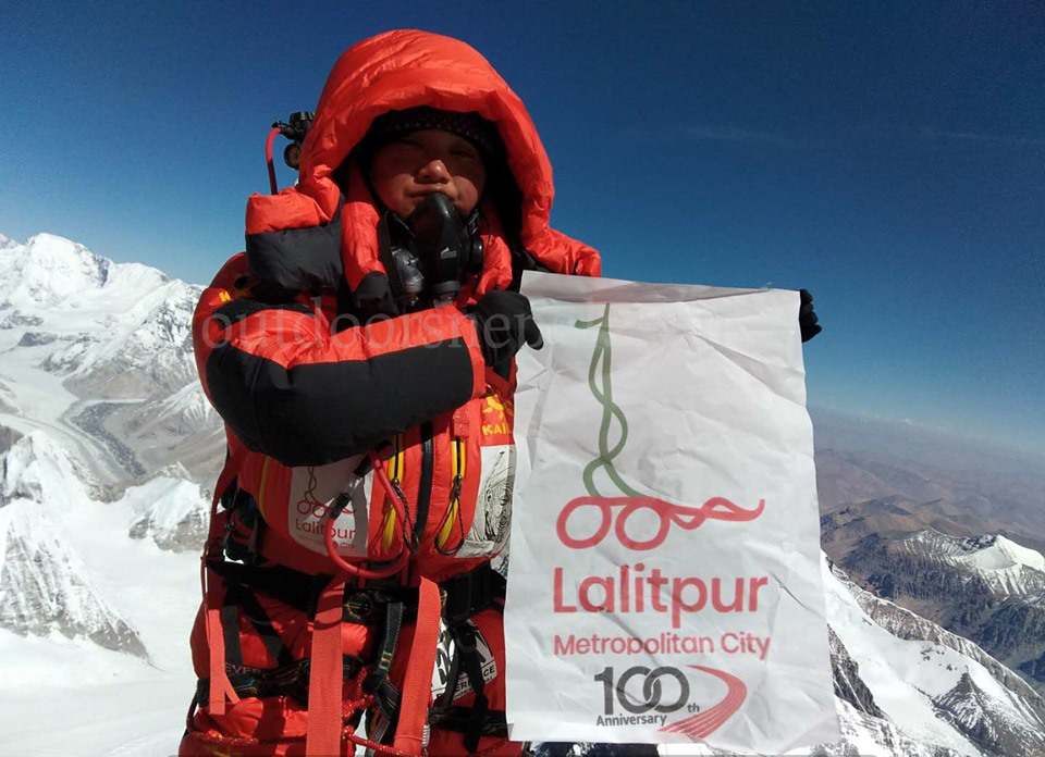 Journo Maharjan sets record climbing Everest from both sides