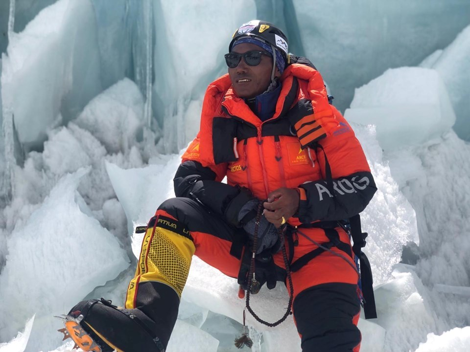 Kami Rita Sherpa scales the Mt. Everest 24th times