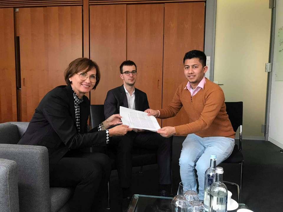 Ex-Maoist child soldier Bista reaches out to German MPs over injustice