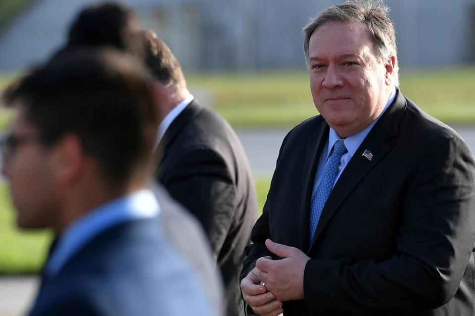 Pompeo to hold talks on Iran in Brussels en route to Russia