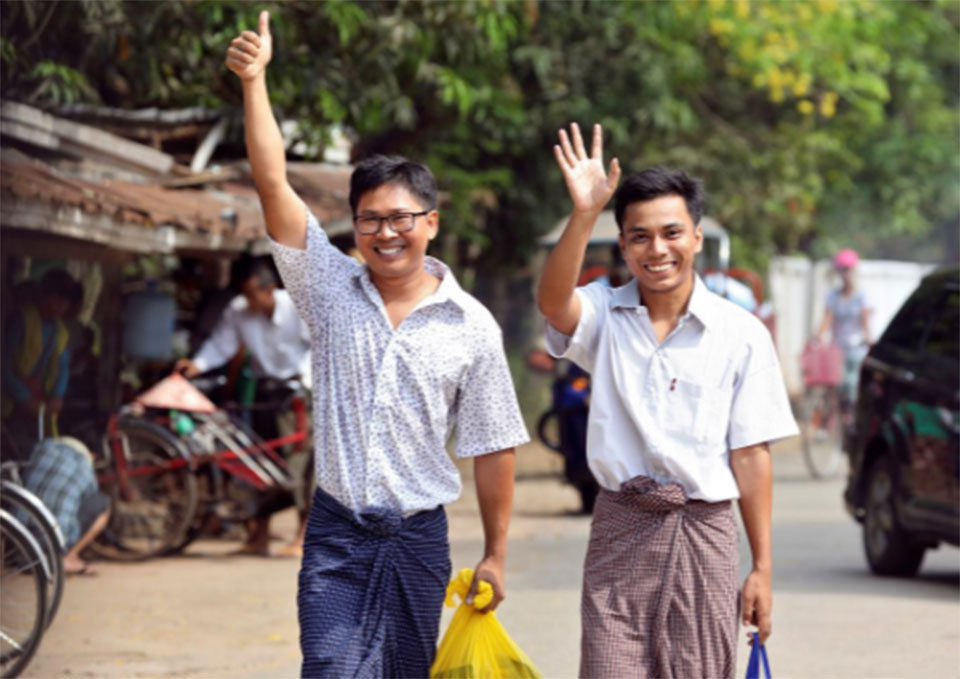 Two Reuters reporters jailed in Myanmar freed after more than 500 days