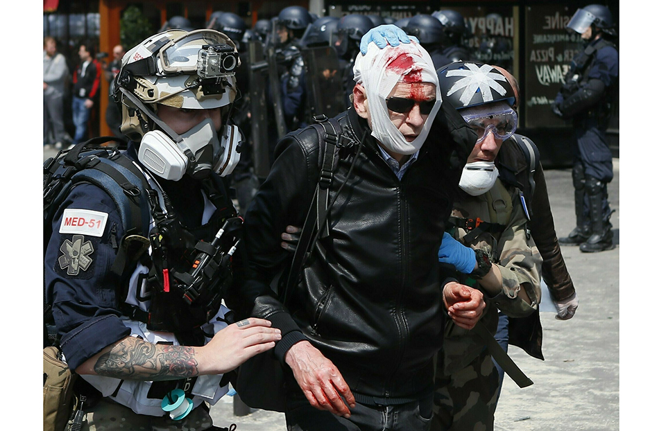 French police clash with May Day protesters on Paris streets
