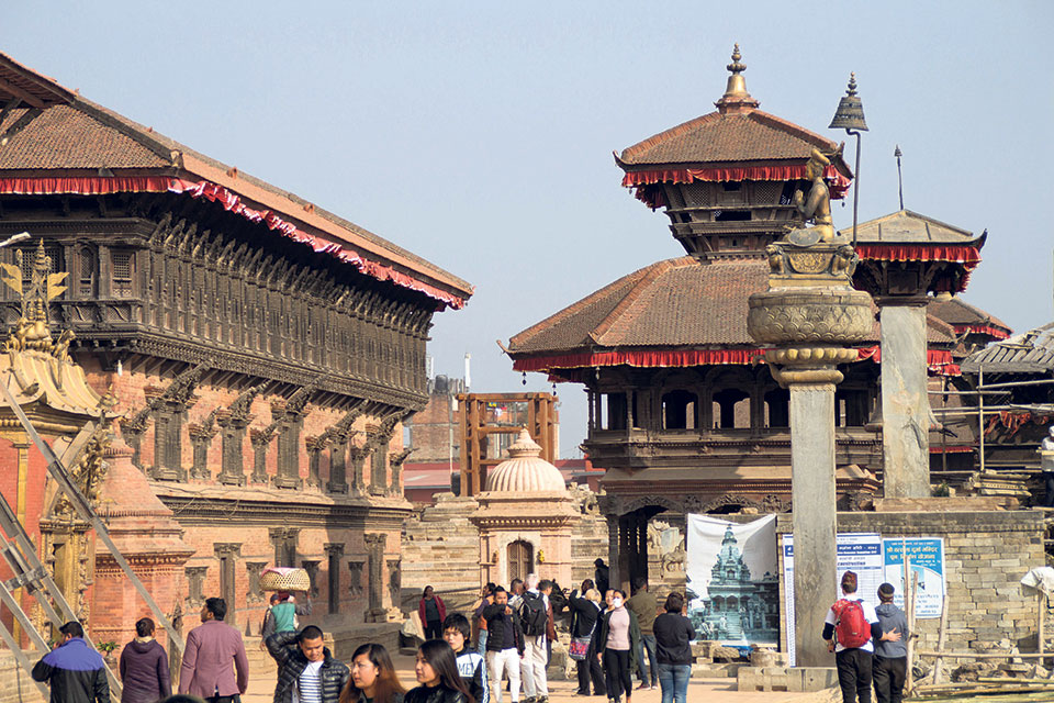 Tourist arrival up in Bhaktapur