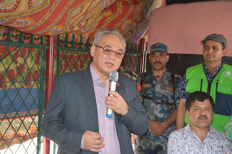 Home Minister Thapa eulogizes late Madan Bhandari and Jivraj Ashrit