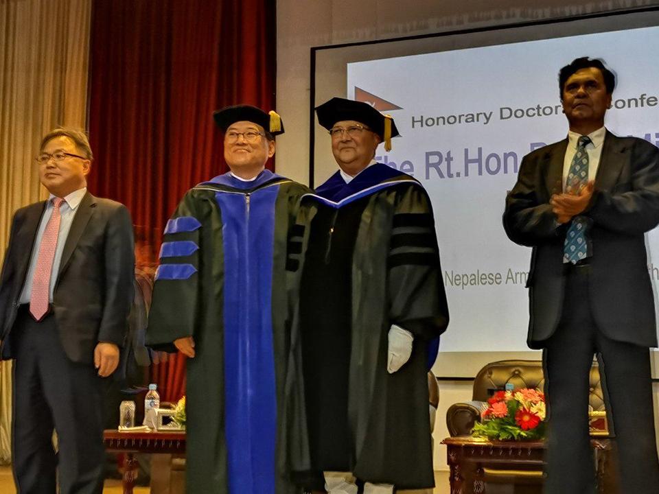 Kangnam University offers honorary doctorate degree to PM Oli
