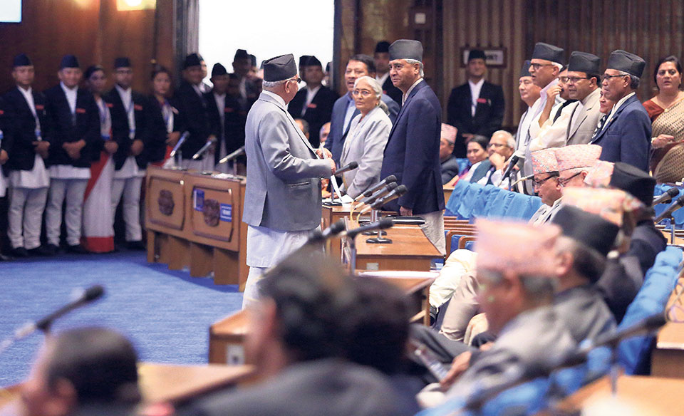 PM, oppn MPs in heated debate after Oli's 'demeaning' remarks