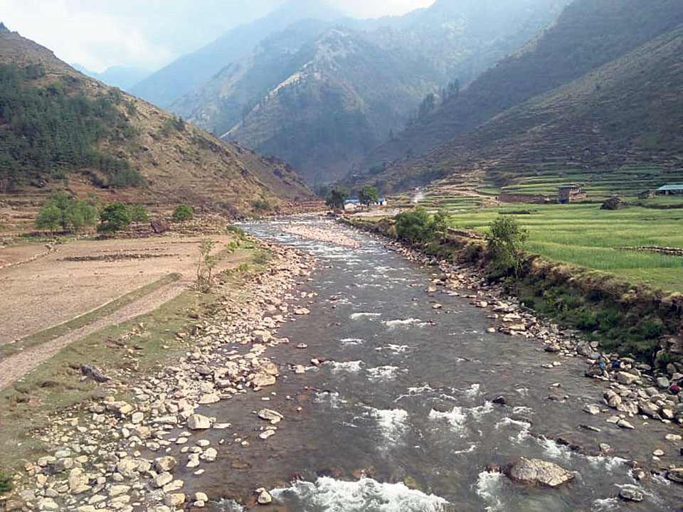 Rukum locals against diverting Uttarganga River
