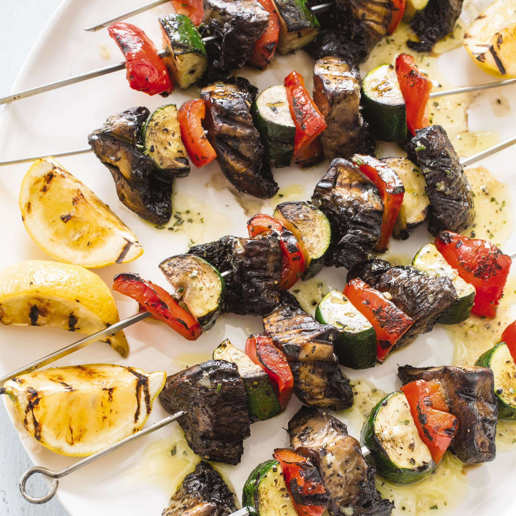 Vegetable kebabs with a crisp exterior and juicy interior