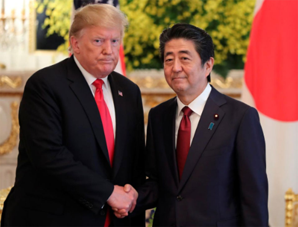 Trump presses Japan over trade gap, expects 'good things' from North Korea