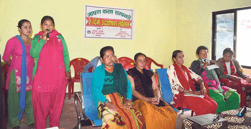 Rural municipality provides public speaking training for women
