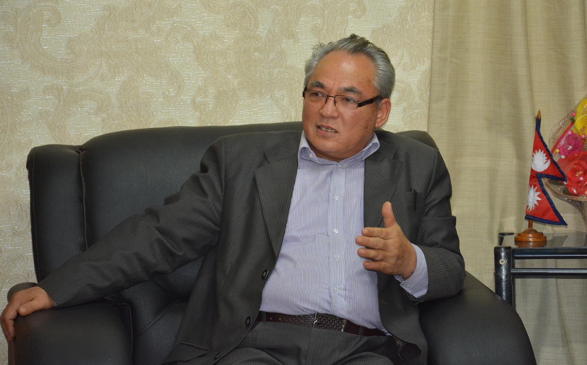 Minister Thapa directs for smooth traffic movement along Naubise-Kalanki road