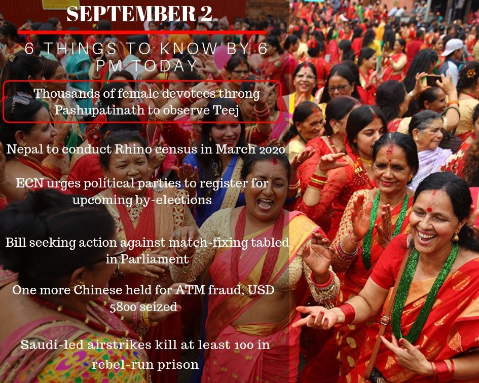 Sept 2: 6 things to know by 6 PM today