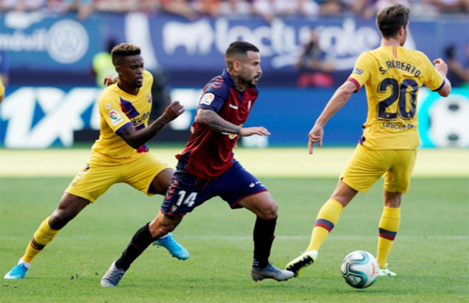 Barca held to surprise draw at Osasuna