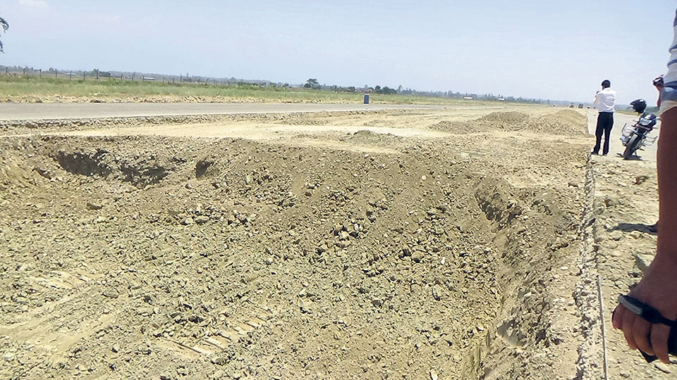 Snail-paced repair work at Dhangadhi Airport disappoints Sudurpaschim people