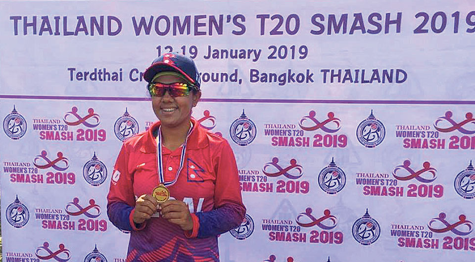 Karuna Bhandrai stars in Nepali women team's first T20I win
