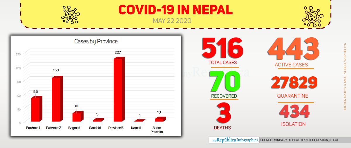 Nine more contract COVID-19, national tally hits 516