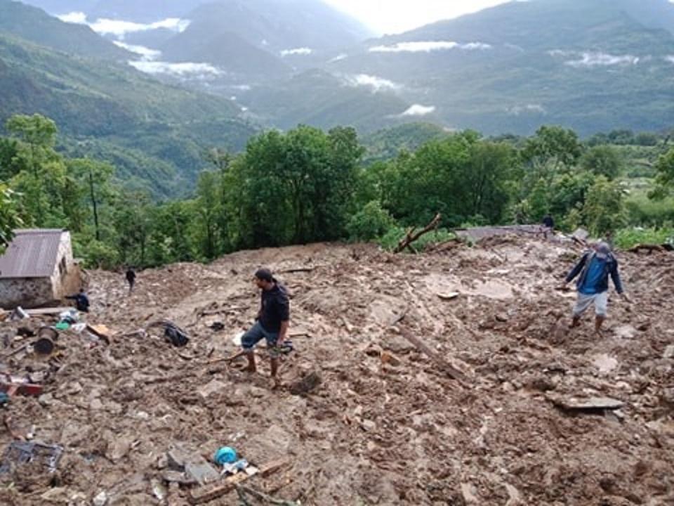 Landslide kills five in Parbat, four still missing