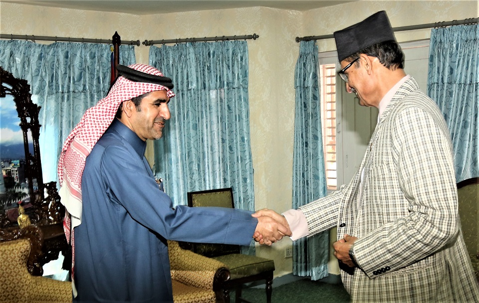Ambassador of Qatar meets House Speaker Sapkota