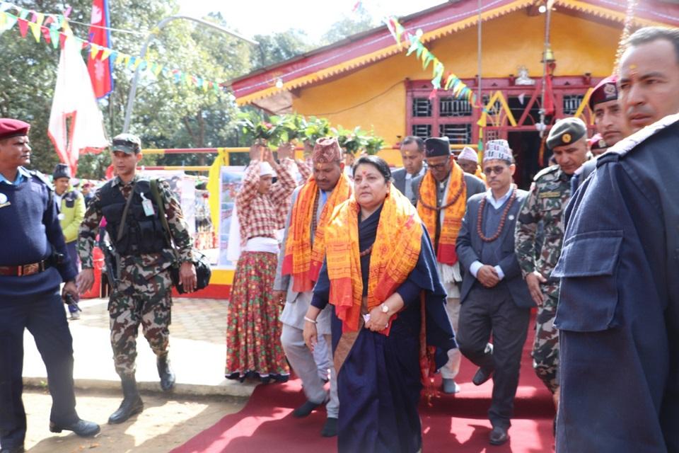President Bhandari in Malikarjun