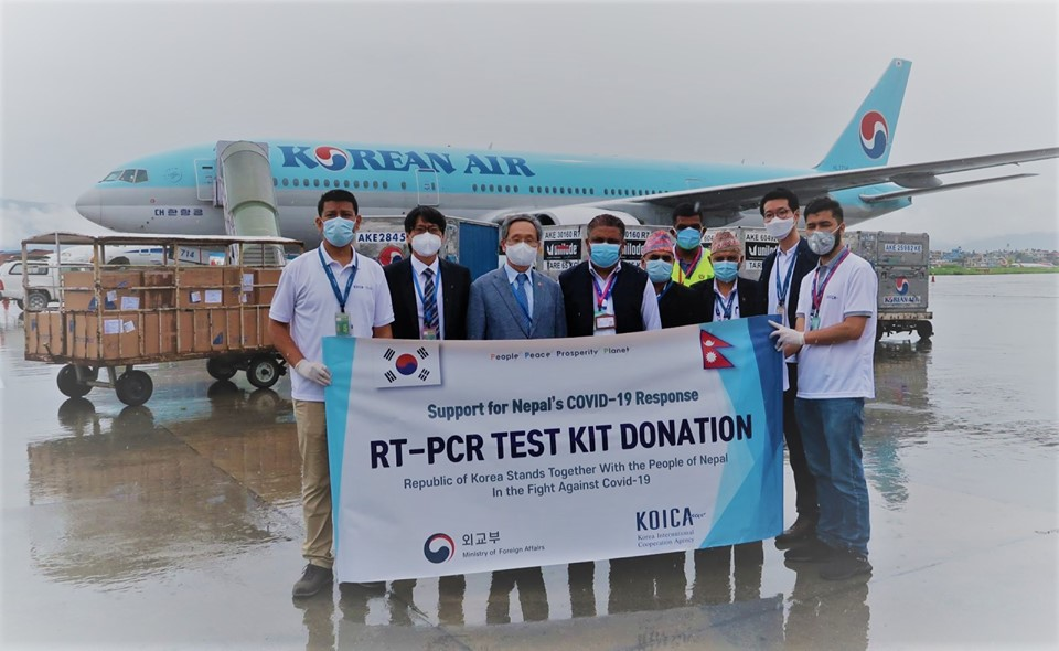 South Korea provides 50,000 RT-PCR test kits worth USD 765,000 to Nepal