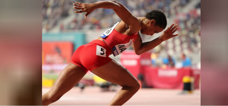 Eid Naser stuns Miller-Uibo to win 400 metres in third-fastest time